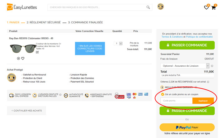 codes promo Easy Lunettes