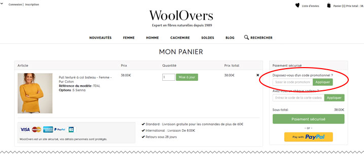 codes promo Woolovers