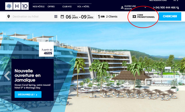 codes promo H10 hotels