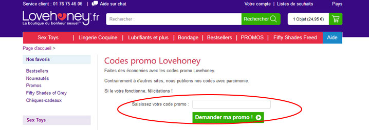 codes promo Lovehoney