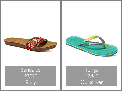 Sandales et tongs