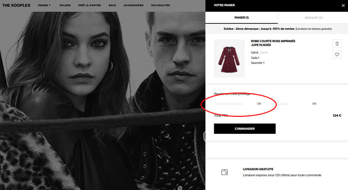 codes promo The Kooples