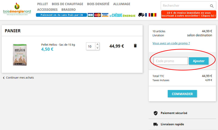 codes promo Bois Energie Nord